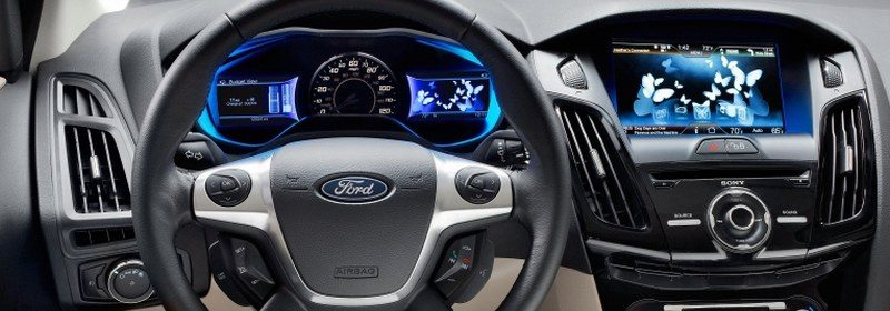 Ford Focus Electric interieur met vlinders