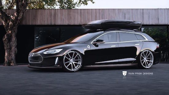 Tesla Model S als station
