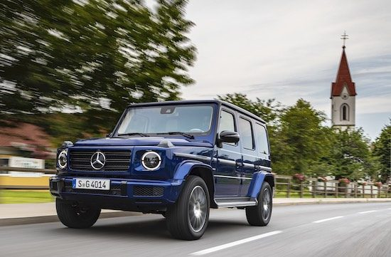 Mercedes-Benz G-klasse in volle vaart